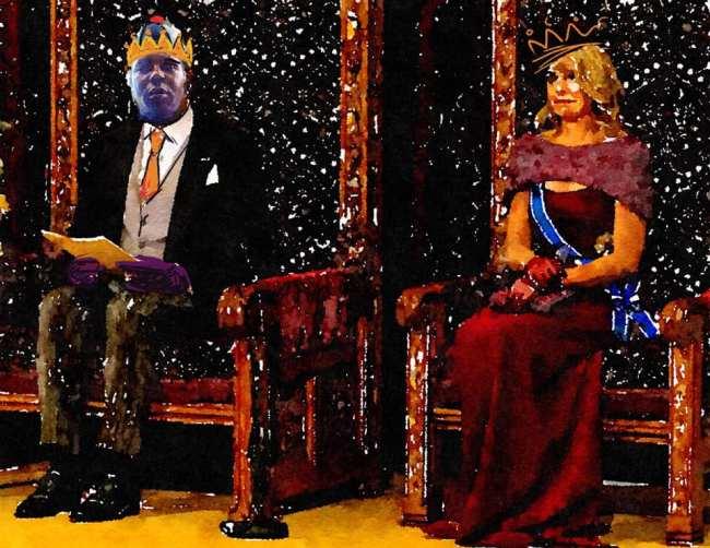 Peter Klashorst - De Koning en Koningin der Nederlanden