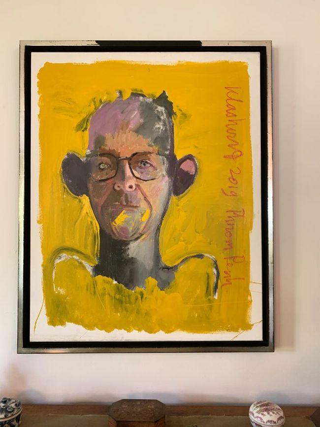 Peter Klashorsts portret van Jaap Holzapffel is treffend! (foto Facebook)