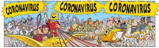 Corona Virus in Astérix et la Transitalique (2) (foto Yahoo Noticias)