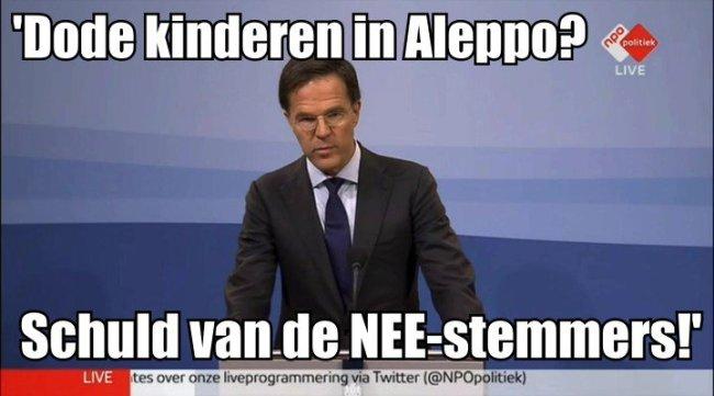'Dode kinderen in Aleppo?' (foto Volksnieuws uit Amsterdam Noir)