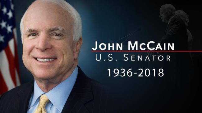 John McCain US Senator 1936-2018 (foto Fronteras Desk)