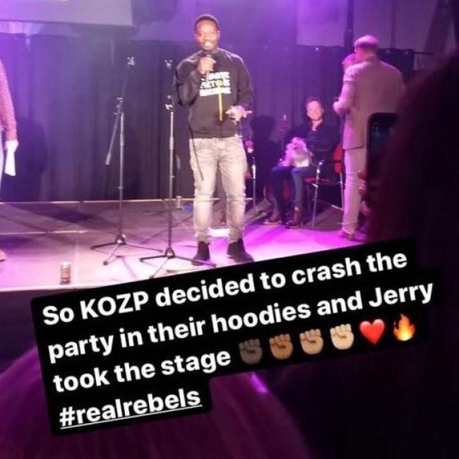 KOPZ's Jerry crashes the party (foto De Dagelijkse Standaard)