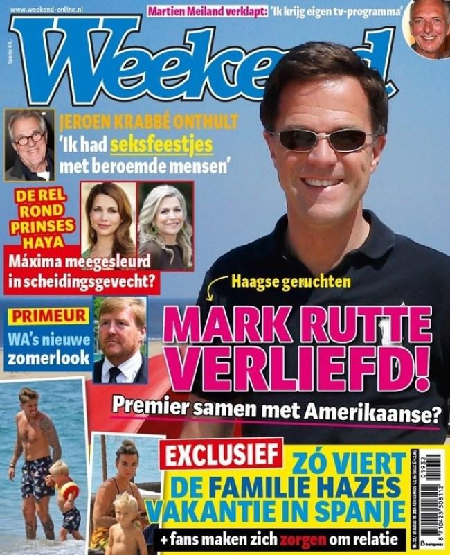 Mark Rutte verliefd (foto Weekend)