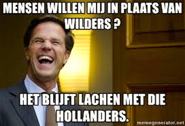 Mensen willen mij in plaats van Wilders? (foto Meme Generator)