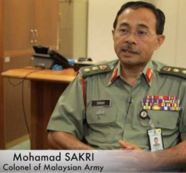 Mohamad Sakri, Colonel of Malaysian Army (foto Europe Reloaded)
