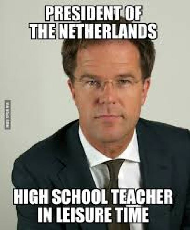 President of the Netherlands (foto 9Gag)