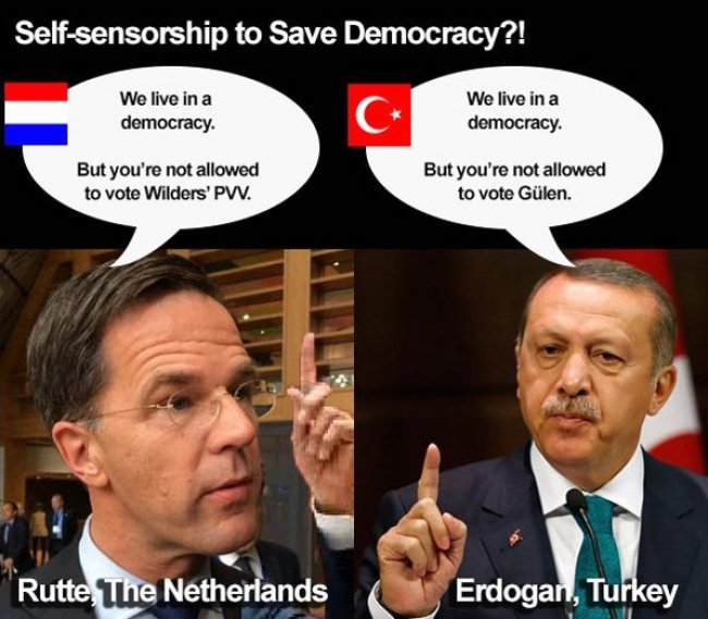 Self censorship to save democracy? (foto Twitter)