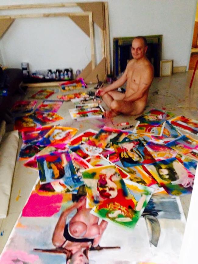 The naked painter Peter Klashorst (foto Facebook)