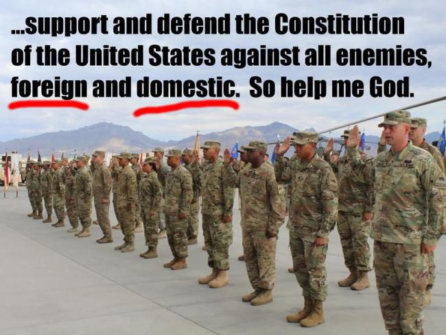 Defend the Constitution of the United States against all enemies foreign & domestic (foto Tom Henghan)