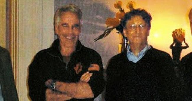 Jeffrey Epstein & Bill Gates (foto Aangirfan)