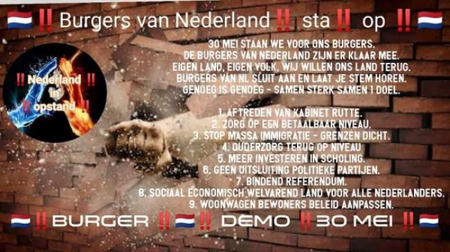 Burgers van Nederland !! sta !! op !! (foto De Lange Mars)