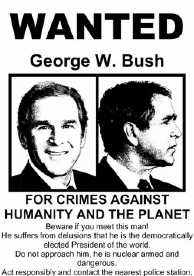 George W Bush wanted (foto Progressive Rags)