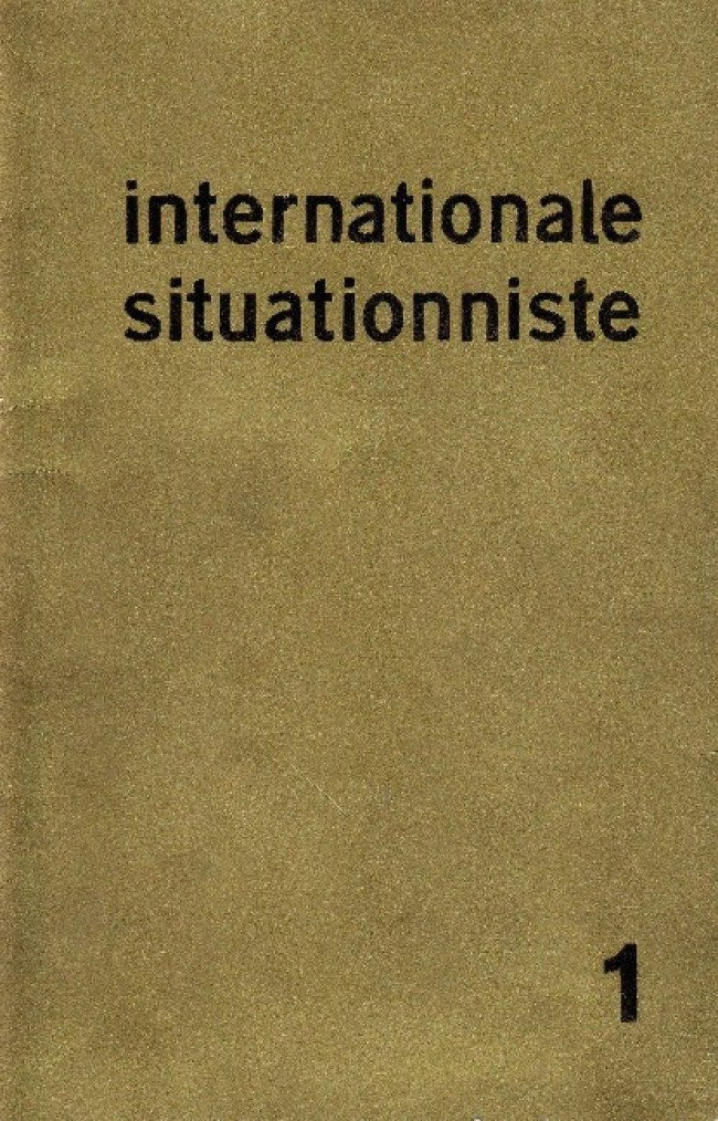 Internationale Situationniste (1), june 1958