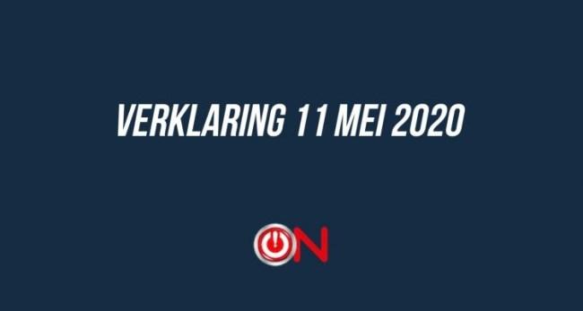 Verklaring 11 mei 2020, Ongehoord Nederland (foto ON)