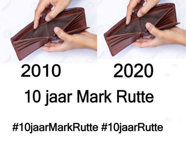 10 jaar Mark Rutte (foto Twitter)