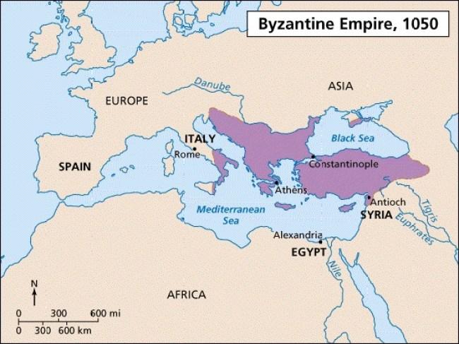 Byzantine Empire, 1050 AC (foto Amino)