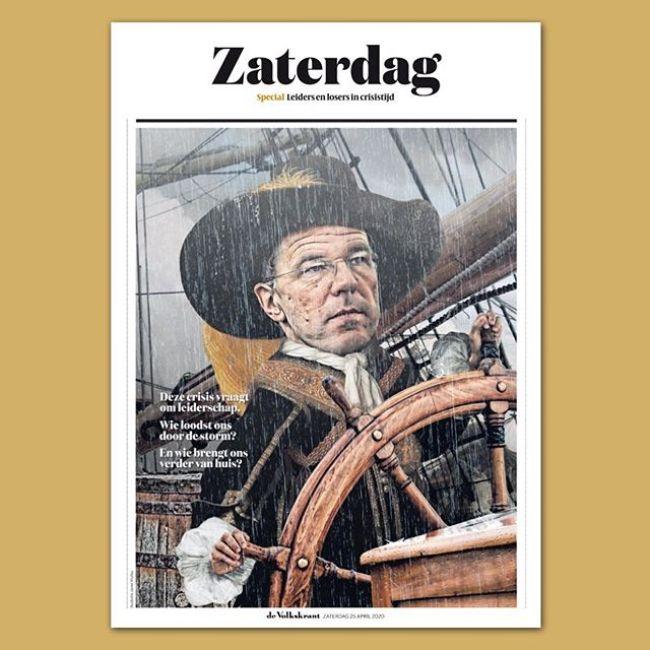 Crisis vraagt leiderschap (foto De Volkskrant)