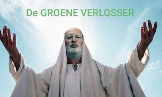 De groene verlosser Frans Timmermans (foto Twitter)