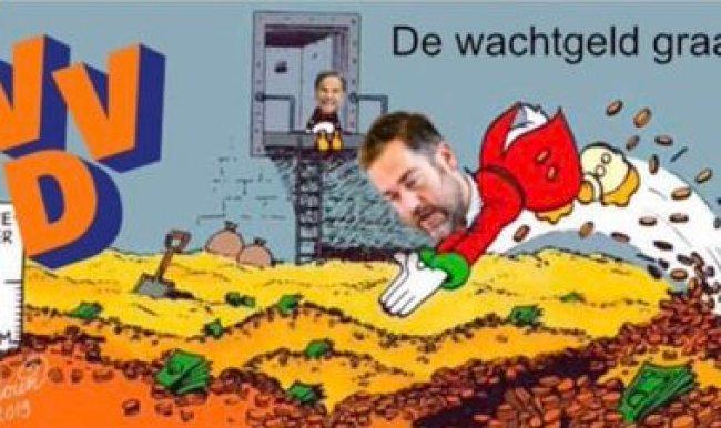 De wachtgeld graaier (foto Twitter)