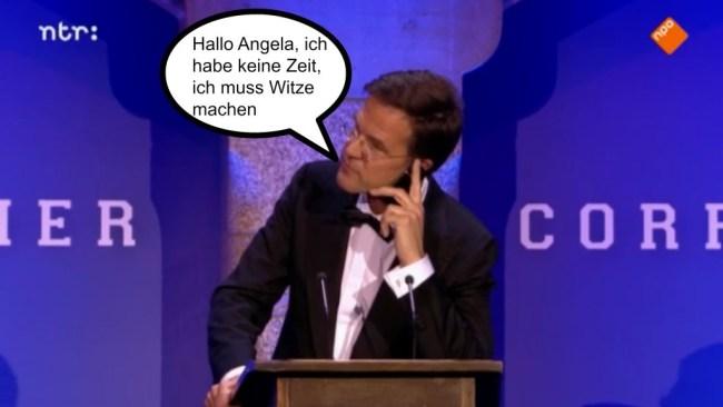 Hallo Angela, ich habe keine Zeit (foto Nieuwe Revu)