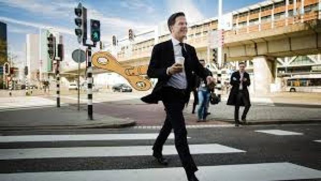 Het mysterie Mark Rutte (foto De Volkskrant)