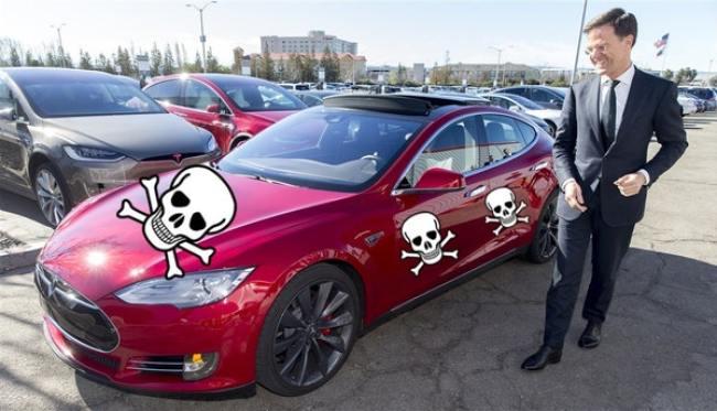 Is Nikola Tesla dood? (foto Twitter)