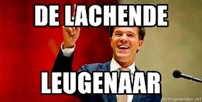 Lachende Leugenaar (foto Meme Generator)