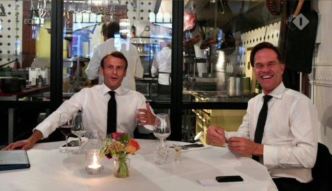 Macron & Rutte, amieté & vriendschap (foto Twitter)