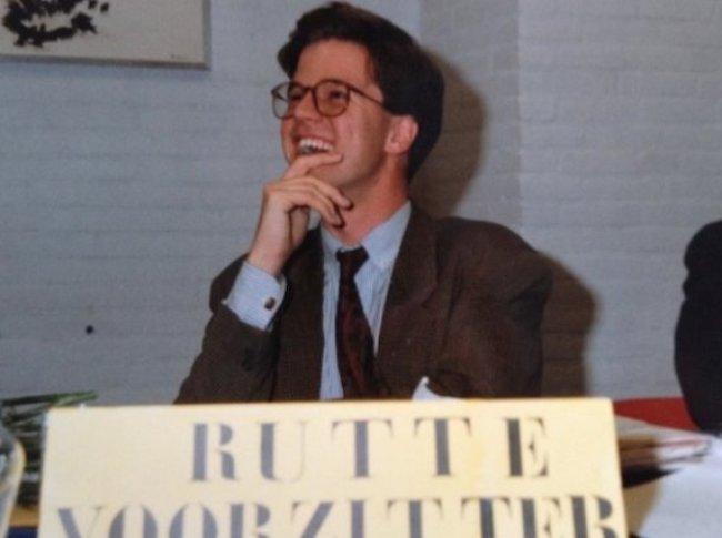 Mark Rutte als JOVD voorzitter (foto jovd.nl)