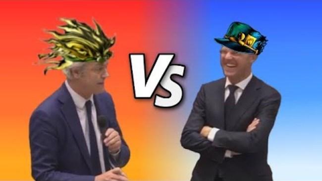 Markaro vs Geert Brando (Mark Rutte vs Geert Wilders (foto JoJo Parody)