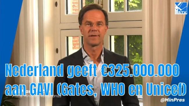 Nederland geeft 350 miljoen aan GAVI (Gates, WHO en Unicef) (foto YouTube)