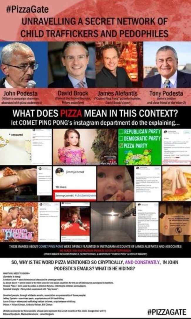 Pizzagate (foto Twitter)