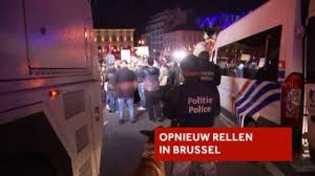Rellen in Brussel (foto NOS)