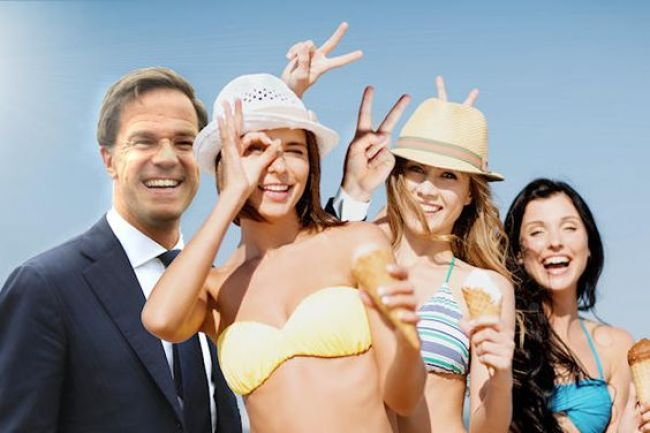 Rutte & de chickies (foto Pinterest)