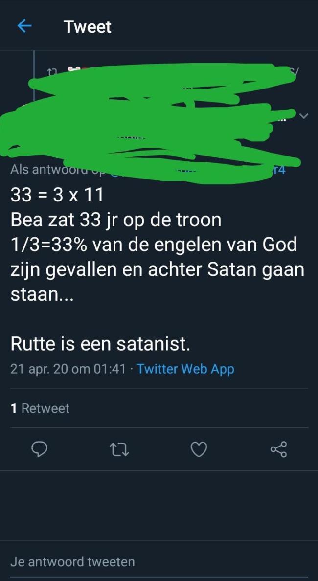 Rutte is een satanist (foto i.redd.it