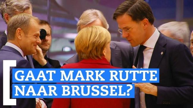Rutte naar Brussel? (foto GeenStijl)
