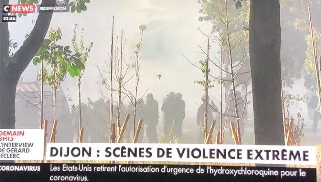 Scenes de violence extreme (foto Twitter)