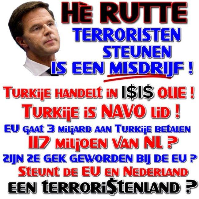 Terroristen steunen is een misdrijf (foto Twitter)