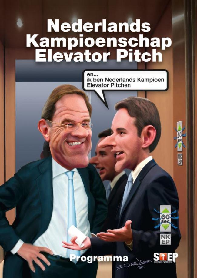 Ed van der Linden - Mark Rutte en Nederlands Kampioen Elevator Pitchen