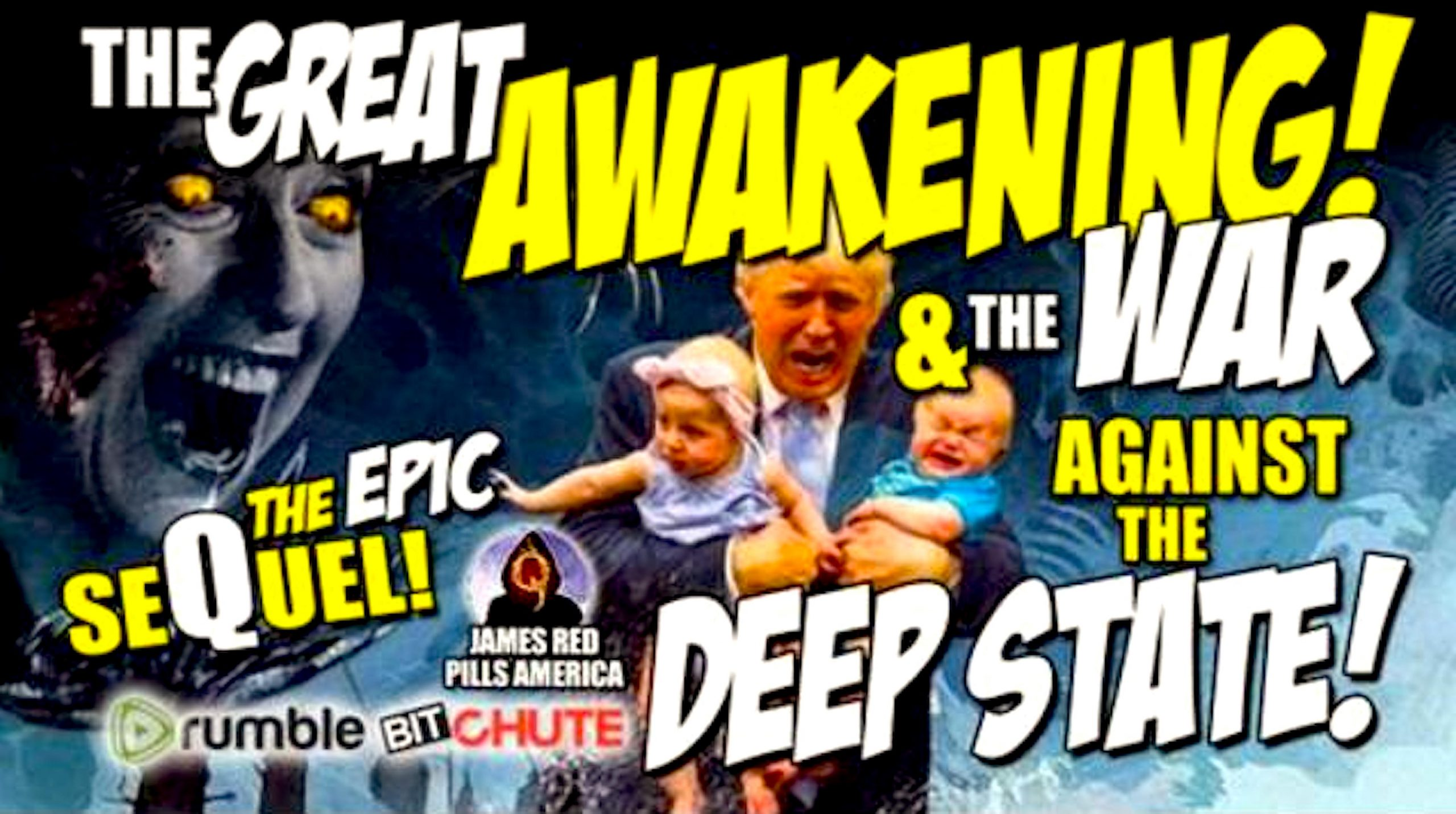 The GREAT AWAKENING! & the WAR against the DEEP STATE (foto Bitchute)