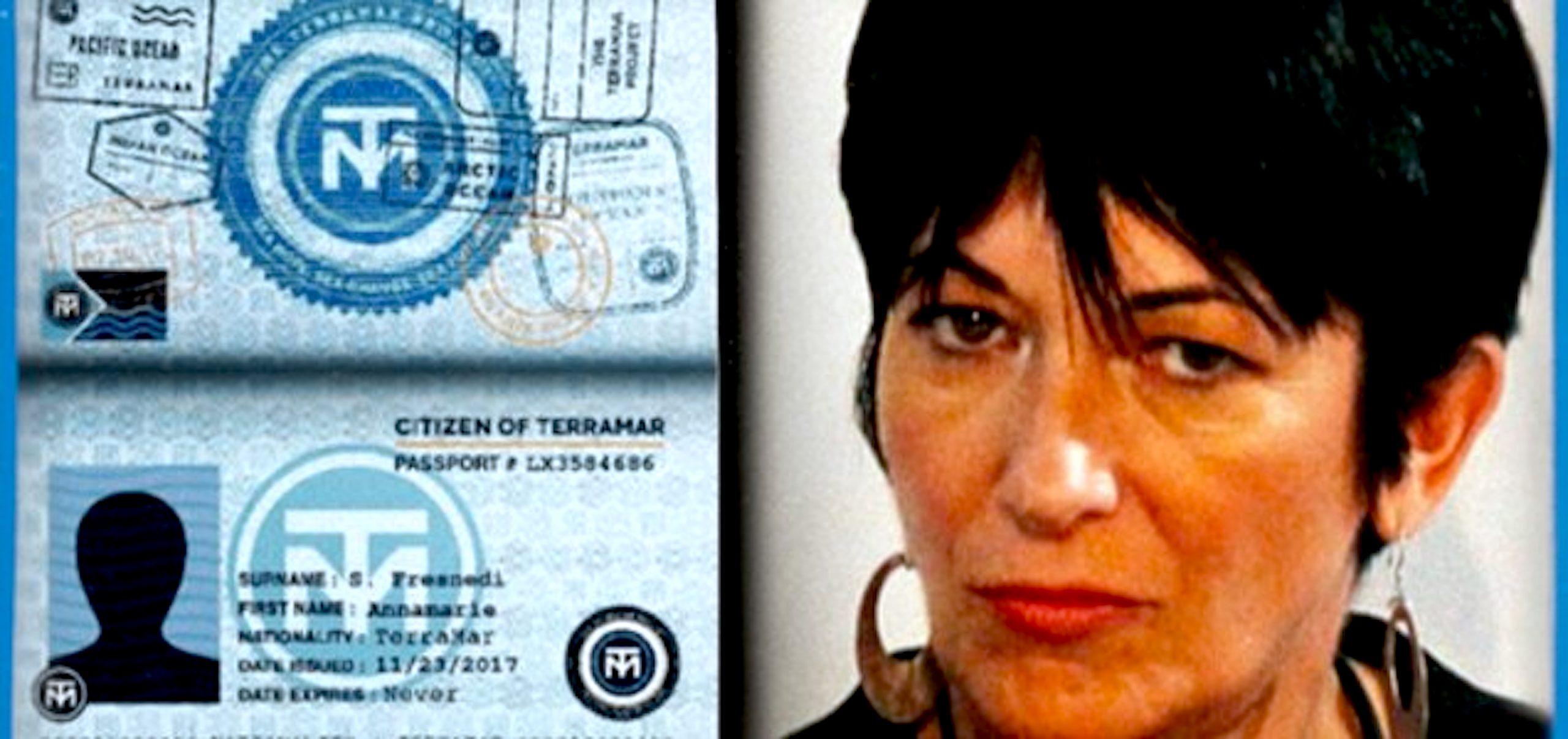 Ghislaine Maxwell with TERRAMAR PROJECT passport (foto The Duran)