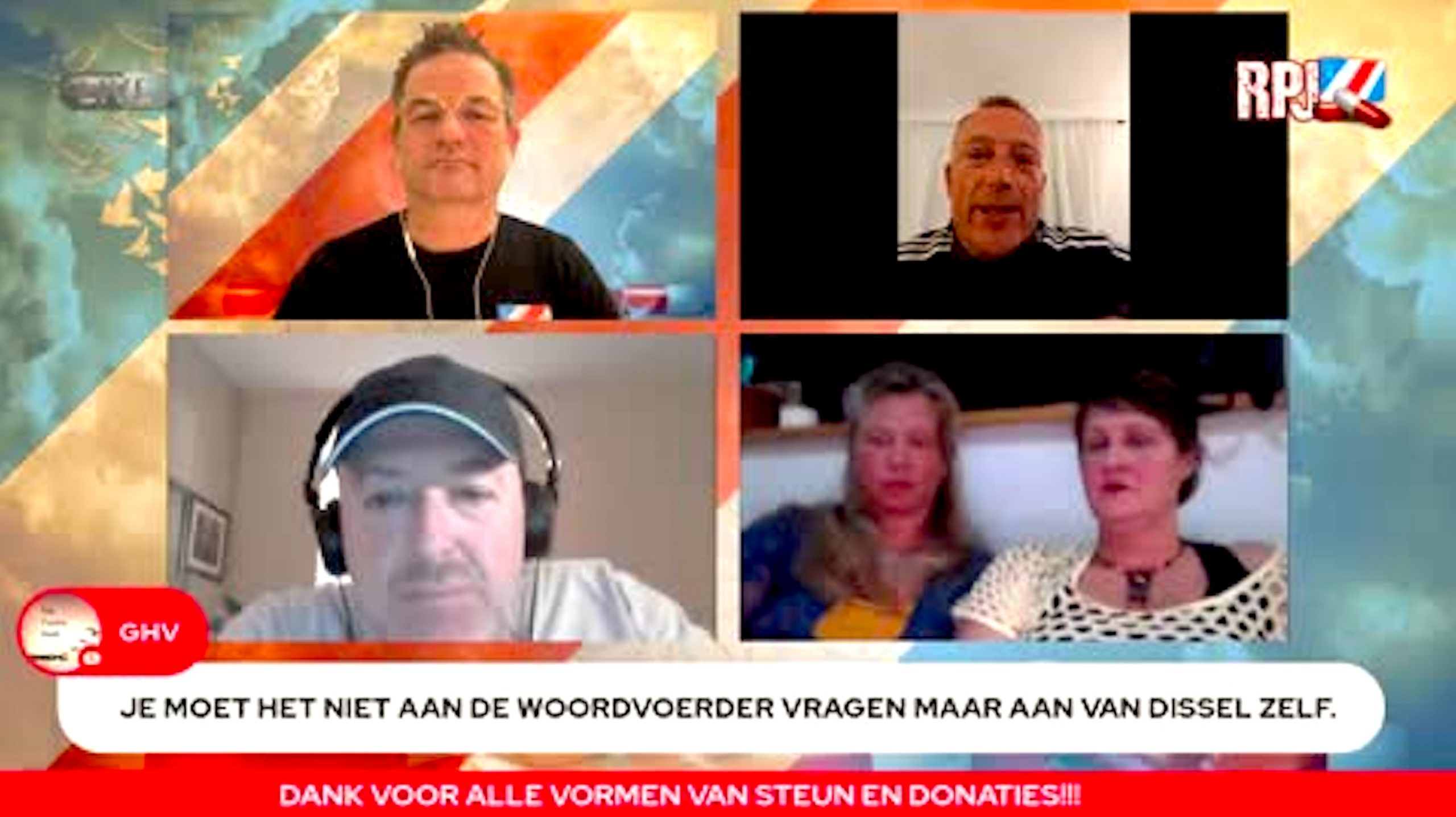 Red Pill Journal met Wouter, Joost, Micha, Janet & Cyntha (foto Rumble)