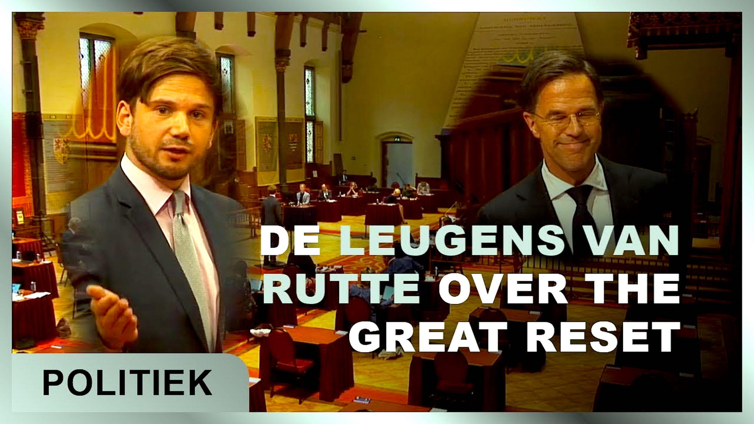 Gideon van Meijerens analyse van het debat met Rutte en Great Reset f(oto YouTube)