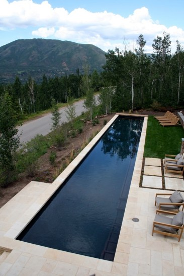 Swimming Pool Therapy Spa Hot Tub Blue Interior Finish Automatic Pool Cover Inset Hot Tub Custom Swimming Pool Aspen Colorado Lap Pool