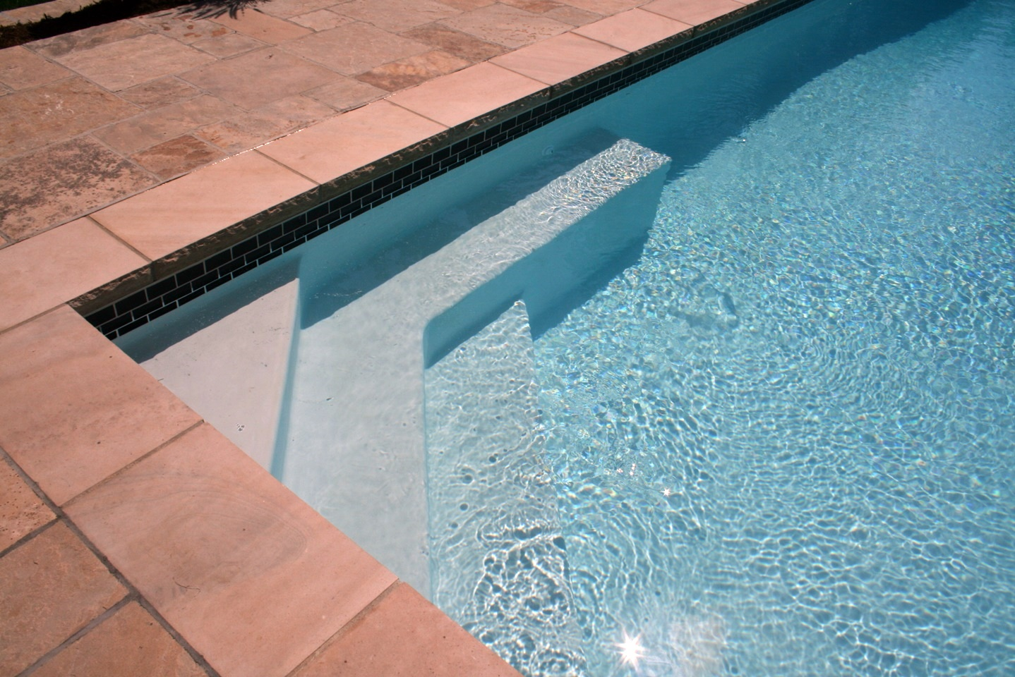 Swimming Pool Custom Swimming Pool Stone Coping Entry Steps Pool Bench