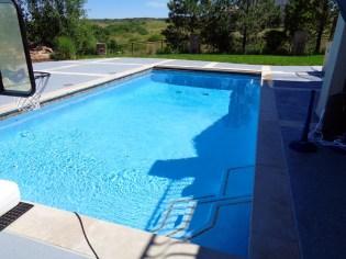 Swimming Pool Stone Decking Blue Pool Finish Stone Coping