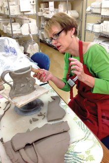 Dianne Battle, one of our newest members working on a project.