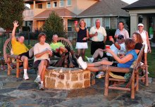 Members of the Tennis Club celebrating Octoberfest.