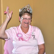 Princess Janie Farnsworth practices the royal wave.