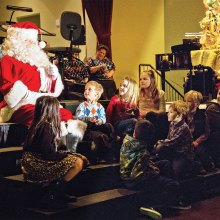 Santa and Robson grandchildren at the Christmas at the Ranch Concert. Photo by Randy Hatcher.